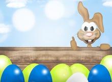 Σύγχρονο λαγουδάκι Πάσχας σχεδίου αυγών Πάσχας Στοκ Εικόνες