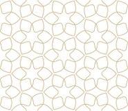 Σύγχρονο απλό γεωμετρικό διανυσματικό άνευ ραφής σχέδιο με τα χρυσά λουλούδια, σύσταση γραμμών στο άσπρο υπόβαθρο Ελαφριά περίληψ στοκ εικόνα με δικαίωμα ελεύθερης χρήσης