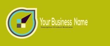 Σύγχρονο απλό επιχειρησιακό λογότυπο σχεδίου Θέση για την επιχείρηση ονόματός σας, κείμενο Στοκ φωτογραφία με δικαίωμα ελεύθερης χρήσης