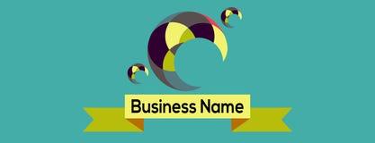 Σύγχρονο απλό επιχειρησιακό λογότυπο σχεδίου Θέση για την επιχείρηση ονόματός σας, κείμενο Στοκ φωτογραφίες με δικαίωμα ελεύθερης χρήσης