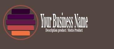 Σύγχρονο απλό επιχειρησιακό λογότυπο σχεδίου Θέση για την επιχείρηση ονόματός σας, κείμενο Στοκ εικόνες με δικαίωμα ελεύθερης χρήσης