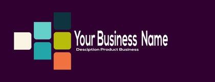 Σύγχρονο απλό επιχειρησιακό λογότυπο σχεδίου Θέση για την επιχείρηση ονόματός σας, κείμενο Στοκ Εικόνες