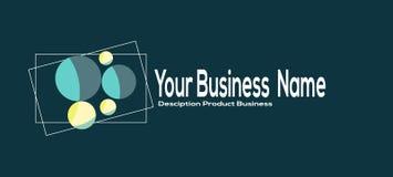 Σύγχρονο απλό επιχειρησιακό λογότυπο σχεδίου Θέση για την επιχείρηση ονόματός σας, κείμενο Στοκ Φωτογραφία