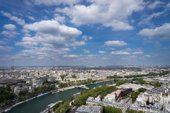 σύγχρονο απλάδι ποταμών του Παρισιού γεφυρών Στοκ Εικόνα