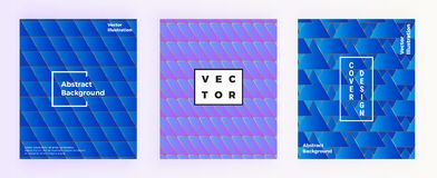 Σύγχρονο αφηρημένο γεωμετρικό υπόβαθρο με τις μορφές τριγώνων Γεωμετρικό σχέδιο κάλυψης, φωτεινές μπλε μορφές κλίσεων Πρότυπο για ελεύθερη απεικόνιση δικαιώματος
