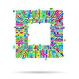 Σύγχρονο αφηρημένο ζωηρόχρωμο τρισδιάστατο υπόβαθρο των γεωμετρικών μορφών ελεύθερη απεικόνιση δικαιώματος