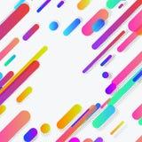 Σύγχρονο αφηρημένο καθιερώνον τη μόδα σχεδιάγραμμα υποβάθρου γραμμών νέου Στοκ Εικόνες