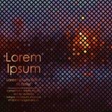 Σύγχρονο αφηρημένο υπόβαθρο με τα χρυσά, μπλε, καφετιά και κόκκινα τετράγωνα και με τη θέση για το κείμενο δείγμα επίσης corel σύ Στοκ φωτογραφία με δικαίωμα ελεύθερης χρήσης
