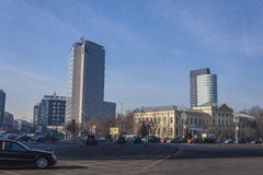 Σύγχρονο Βουκουρέστι στοκ εικόνες