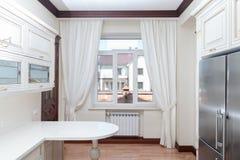 Σύγχρονο γαστρονομικό εσωτερικό κουζινών Στοκ εικόνα με δικαίωμα ελεύθερης χρήσης