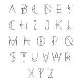 Σύγχρονο γεωμετρικό αλφάβητο διανυσματική απεικόνιση