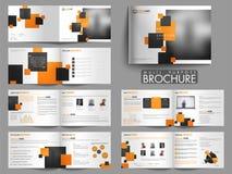 Σύγχρονο για πολλές χρήσεις σύνολο φυλλάδιων δώδεκα σελίδων Στοκ Εικόνες