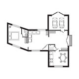 Σύγχρονο γραφείων αρχιτεκτονικό πρόγραμμα σχεδίων σχεδίου επίπλων και κατασκευής σχεδίων εσωτερικό Στοκ Εικόνες