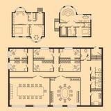 Σύγχρονο γραφείων αρχιτεκτονικό πρόγραμμα σχεδίων σχεδίου επίπλων και κατασκευής σχεδίων εσωτερικό Στοκ φωτογραφία με δικαίωμα ελεύθερης χρήσης