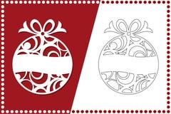 σύγχρονο δέντρο Χριστου&gam Παιχνίδι του νέου έτους για την κοπή λέιζερ επίσης corel σύρετε το διάνυσμα απεικόνισης διανυσματική απεικόνιση