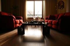 σύγχρονο δωμάτιο διαβίωσης γωνίας ευρέως Στοκ Εικόνες