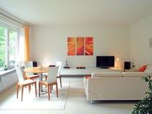 σύγχρονο δωμάτιο διαβίωσης Στοκ εικόνα με δικαίωμα ελεύθερης χρήσης