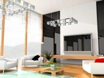 σύγχρονο δωμάτιο ξενοδο Στοκ Εικόνες