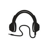 Σύγχρονο εικονίδιο ακουστικών Στοκ φωτογραφία με δικαίωμα ελεύθερης χρήσης
