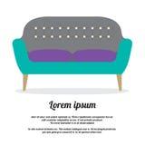 Σύγχρονο εκλεκτής ποιότητας ύφος καναπέδων Στοκ Εικόνες