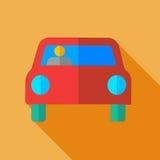 Σύγχρονο επίπεδο αυτοκίνητο εικονιδίων έννοιας σχεδίου Στοκ εικόνα με δικαίωμα ελεύθερης χρήσης