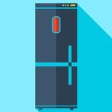 Σύγχρονο επίπεδο ψυγείο εικονιδίων έννοιας σχεδίου Στοκ εικόνες με δικαίωμα ελεύθερης χρήσης