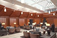 Σύγχρονο εστιατόριο λόμπι Στοκ εικόνες με δικαίωμα ελεύθερης χρήσης