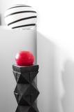 Σύγχρονο εσωτερικό  λαμπτήρας και κόκκινο κερί Στοκ εικόνα με δικαίωμα ελεύθερης χρήσης