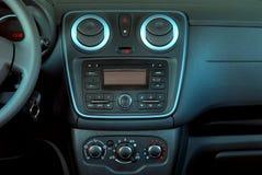 Σύγχρονο εσωτερικό αυτοκινήτων, λεπτομέρειες μέσα στο αυτοκίνητο Στοκ Εικόνες