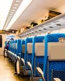 Σύγχρονο εσωτερικό βαγονιών εμπορευμάτων τραίνων, Κιότο, Ιαπωνία Διάστημα αντιγράφων για το κείμενο διάνυσμα κειμένων απεικόνισης Στοκ εικόνες με δικαίωμα ελεύθερης χρήσης