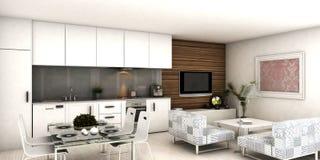 Σύγχρονο εσωτερικό διαμέρισμα Διανυσματική απεικόνιση
