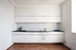 Σύγχρονο εσωτερικό κουζινών Στοκ Εικόνα