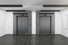 Σύγχρονο εσωτερικό με τον ανελκυστήρα διανυσματική απεικόνιση