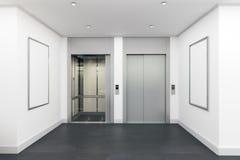 Σύγχρονο εσωτερικό με τον ανελκυστήρα στοκ εικόνες με δικαίωμα ελεύθερης χρήσης