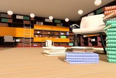Σύγχρονο εσωτερικό της βιβλιοθήκης στοκ φωτογραφία με δικαίωμα ελεύθερης χρήσης