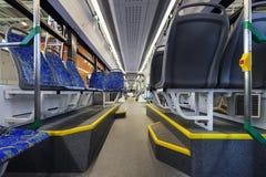 Σύγχρονο εσωτερικό τραμ Στοκ Φωτογραφίες