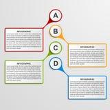 Σύγχρονο ζωηρόχρωμο έμβλημα επιλογών τετραγώνων infographic Στοκ φωτογραφίες με δικαίωμα ελεύθερης χρήσης