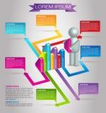 Σύγχρονο διάνυσμα επιχειρησιακού Infographic απεικόνιση αποθεμάτων
