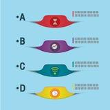 Σύγχρονο διάνυσμα προτύπων επιλογής πληροφοριών γραφικό Στοκ Εικόνες