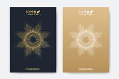 Σύγχρονο διανυσματικό πρότυπο για το φυλλάδιο, το φυλλάδιο, το ιπτάμενο, την κάλυψη, το περιοδικό ή τη ετήσια έκθεση Στοκ Εικόνες
