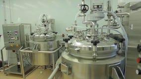 Σύγχρονο ιατρικό εργαστήριο Χημικός εξοπλισμός στο εργαστήριο Μεγάλος σύγχρονος εξοπλισμός στο χημικό εργαστήριο απόθεμα βίντεο