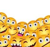 Σύγχρονο κίτρινο ευτυχές χαμόγελο γέλιου Στοκ φωτογραφίες με δικαίωμα ελεύθερης χρήσης