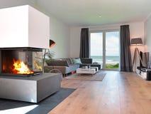 Σύγχρονο καθιστικό παραλιών Στοκ Εικόνες