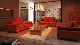 Σύγχρονο καθιστικό Στοκ εικόνα με δικαίωμα ελεύθερης χρήσης