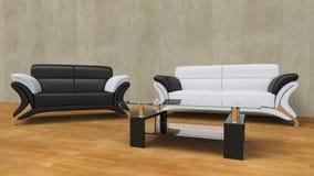 σύγχρονο καθιστικό Στοκ Εικόνες