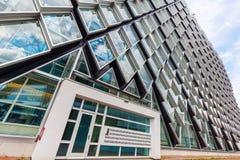 Σύγχρονο κατοικημένο κτήριο στο Αϊντχόβεν, Κάτω Χώρες Με περίπου 225.000 κατοίκους του ο 5$ος-μεγαλύτερος δήμος Netherla Στοκ Φωτογραφίες