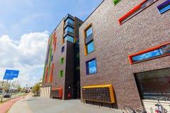 Σύγχρονο κατοικημένο κτήριο στο Αϊντχόβεν, Κάτω Χώρες Με περίπου 225.000 κατοίκους του ο 5$ος-μεγαλύτερος δήμος Netherla Στοκ Φωτογραφία