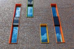 Σύγχρονο κατοικημένο κτήριο στο Αϊντχόβεν, Κάτω Χώρες Με περίπου 225.000 κατοίκους του ο 5$ος-μεγαλύτερος δήμος Netherla Στοκ Εικόνες