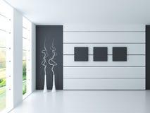 Σύγχρονο κενό άσπρο δωμάτιο   Εσωτερικό αρχιτεκτονικής Στοκ Εικόνες