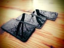 Σύγχρονο κινητό τηλέφωνο τρία Κυψελοειδές τηλέφωνο μοντέρνος Στοκ Εικόνες